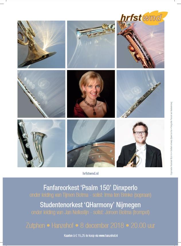 HRFSTWND-concert Psalm 150 en QHarmony @ Hanzehof Zutphen